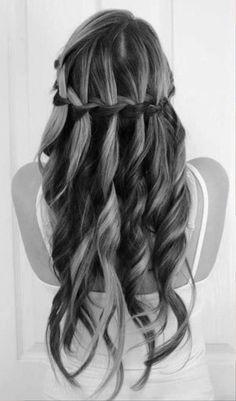 Pictures of Cute Waterfall Braid Hair