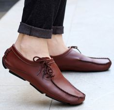 Fashion peas shoes personalized straps breathable casual shoes – joymanmall Source by roluwaseyitan mens Lofers Shoes, Mens Loafers Shoes, Brown Loafers, Leather Loafers, Shoe Boots, Oxfords, Suede Leather, Black Suede, Casual Slip On Shoes