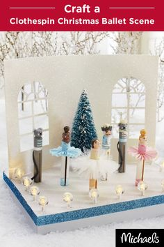 Reminiscent of your favorite holiday ballet, this adorable Christmas scene will set the stage for your holidays. Tiny details make this craft come to life. Get everything you need to make this project at your local Michaels store.
