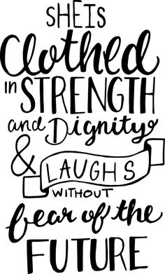"""She Is Clothed In Strength And Dignity"" Stickers by Katie Thomas 