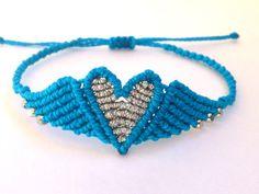Macrame Angel Wings Heart Bracelet/Friendship Bracelet by MACRANI