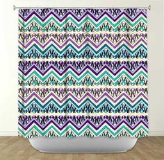 DiaNoche Designs Energy by Pom Graphic Design Fabric Shower Curtain