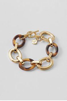 Women's Tortoise Link Toggle Bracelet from Lands' End