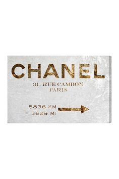 Oliver Gal Couture Road Sign Canvas Art on HauteLook