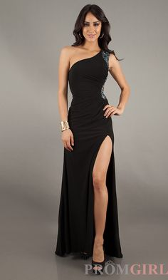 Prom Dresses, Celebrity Dresses, Sexy Evening Gowns at PromGirl: Long Open Back One Shoulder Gown