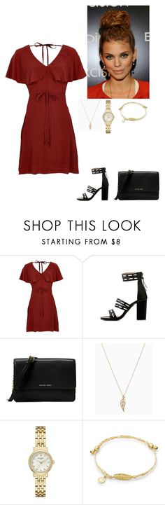 """""""Untitled #492"""" by nicole-kassidi ❤ liked on Polyvore featuring River Island, Michael Kors and Kate Spade"""