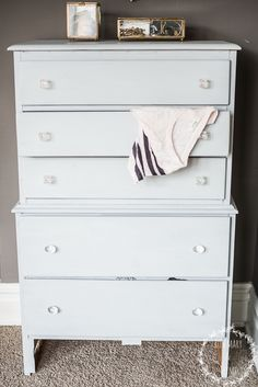 beautiful color!! KRISTE'S MILK PAINT DRESSER | Mora Dresser | Miss Mustard Seeds Milk Paint