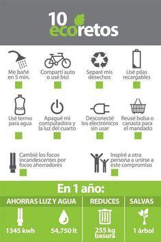 Eco retos #cambiodehábitos #cambiemoselmundo