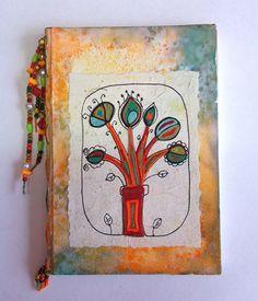 Clube de Artesanato • Caderno decorado com linhas