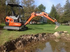 Kubota KX 018 is a compact excavator with hydraulic thumb with a powerful digging force and a wider working range.