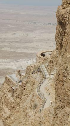 Masada, Israel - Walkway to the North Palace