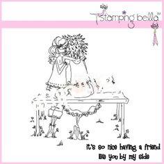 stamping bella uptown girls | Stamping Bella Rubber Stamp - Uptown Girl The Bench Buddies ...