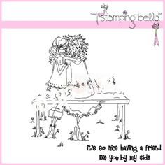 stamping bella uptown girls | Stamping Bella Rubber Stamp - Uptown Girl The Bench Buddies ...