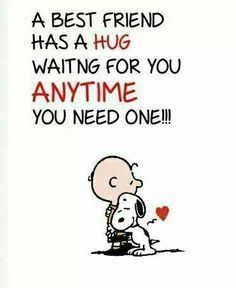 Love & hug Quotes : Snoopy - Quotes Sayings Best Friend Hug, Best Friends, Hug Quotes, Funny Quotes, Snoopy Quotes Love, Charlie Brown Und Snoopy, Friends Hugging, Love Hug, Snoopy And Woodstock