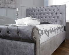 Limelight Beds Orbit 5FT Kingsize Fabric Bedframe - Silver Velvet
