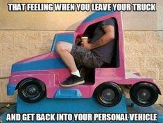 Big Rig Trucks, Semi Trucks, Funny Signs, Funny Memes, Hilarious, Jokes, Truck Driver Wife, Truck Memes, Truck Humor