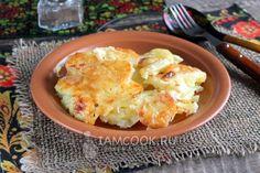 Картошка со сливками и сыром в духовке