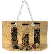 Three Button Jars Weekender Tote Bag by Sandra Foster