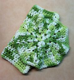Crochet Washcloth Set of 2 Dishcloths Spa by KathysYarnCreations