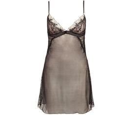 Passionata Double Je Nightdress (83 AUD) ❤ liked on Polyvore featuring intimates, pijamas, sleepwear, underwear, black, womens-fashion i passionata