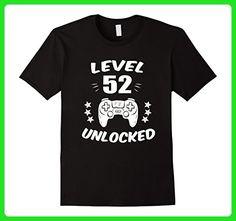 Mens Level 52 Unlocked T-Shirt Video Gamer 52nd Birthday Gift Tee XL Black - Gamer shirts (*Amazon Partner-Link)