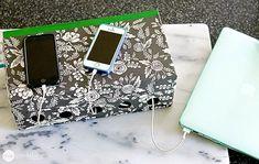 A Simple DIY Family Charging Station - One Good Thing by JilleePinterestFacebookPinterestFacebookPrintFriendly
