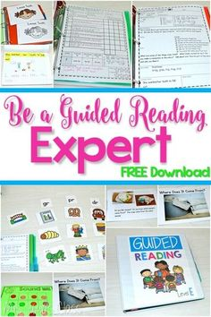 Guided Reading in Kindergarten.  Lesson plans, word work, running records, books and MORE! Plus a FREE download!