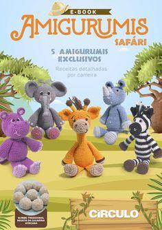 Bichinhos Amigurumi Receita PDF - Como Faço Crochet Deer, Crochet Food, Crochet Dolls, Crochet Clothes, Free Crochet, Crochet Animal Patterns, Stuffed Animal Patterns, Baby Knitting Patterns, Amigurumi Patterns