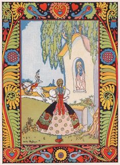 The amazing Willy Pogany (Hungarian) for Tisza Tales Art And Illustration, Illustrations Posters, Painting Inspiration, Art Inspo, Different Art Styles, Conte, Folk Art, Fairy Tales, Fine Art Prints