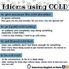 About Cold #idiomas #inglés #Anglés