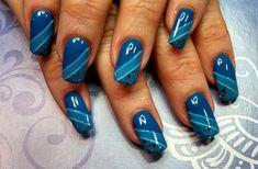 I got the blues.... by aliciarock - Nail Art Gallery nailartgallery.nailsmag.com by Nails Magazine www.nailsmag.com #nailart