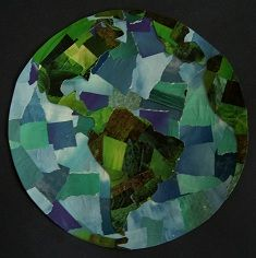 Collage art - Earth, using torn magazines pages. http://www.ape2zebra.ca/blog/childrenstoys/84-craft-a-collaged-earth-for-earth-hour.aspx