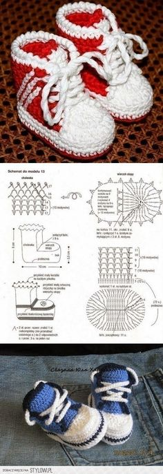 Darmowe wzory bucików, skarpetek i kapci dla dzieci najmniejszych i większych szydełkiem i na drutach