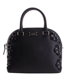 Another great find on #zulily! Black Embellished Carli Grove Street Leather Satchel #zulilyfinds
