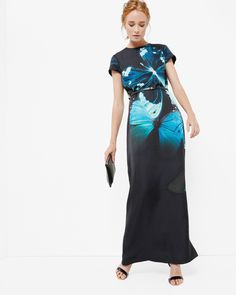 Butterfly Collective maxi dress - Black   Dresses   Ted Baker UK
