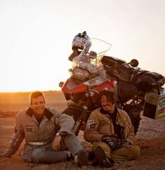 They were my childhood heroes - Ewan McGregor & Charley Boorman - in both their expedition - Long Way Round and then Long Way Down