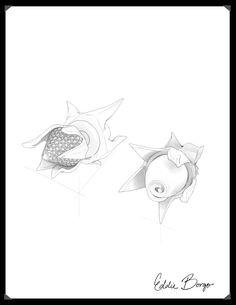 #EddieBorgo | Designer Sketch | Rose Reversible Stud