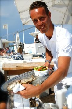 #Bagatelle Beach St Tropez Service with a Smile! #Delicious Fresh Whole #Fish served at Bagatelle Beach Club, Seafood Anyone?