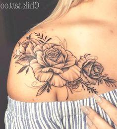 Rose Schulter Tattoo für Frauen - Tattoo New New Tattoo Designs, Tattoo Sleeve Designs, Flower Tattoo Designs, Tattoo Designs For Women, Sleeve Tattoos, Shoulder Tattoos For Women, Best Tattoos For Women, Tattoos For Guys, Tattoo Women