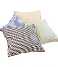 Laurel Check Corded Pillow $28.95