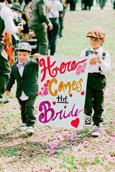 here comes the bride! | Michelle March