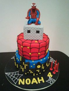 Spiderman Cake Marisa Simon Cakes Pinterest Cake Man cake