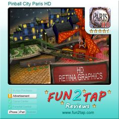 Pinball City Paris HD - Pinball wizardry in the city of love. Full review at: http://fun2tap.com/index.cfm#id255