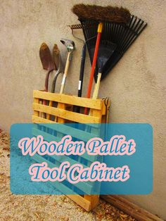 Wooden Pallet Tool Cabinet