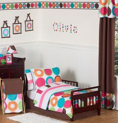 Sweet Jojo Designs Deco Dot Toddler Bedding Set (5 Pc.) (DecoDot-Tod)