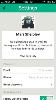 account settings mobile pinterest - Google Search