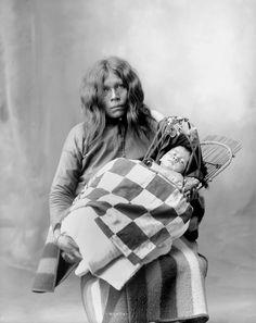 Standing L-R: Unknown (Keechi), Awarhe (Pawnee), Black Beaver (Delaware), Kne-wa-ka-sets (Keechi)  Sitting L-R: Long Horn (Delaware), Assadawa (Wichita), Possum (Delaware) - 1868   Nawatry, Dudu,