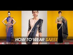 How to Wear Saree in Different Styles.