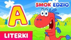 Nauka literek dla dzieci ze Smokiem Edziem - litera A - literki dla dzie...