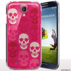 Coque Telephone Samsung S4 Mini | Design Skull Rose | Coque Rigide | Housse Silicone souple. #S4Mini #Coque #etui #Skull